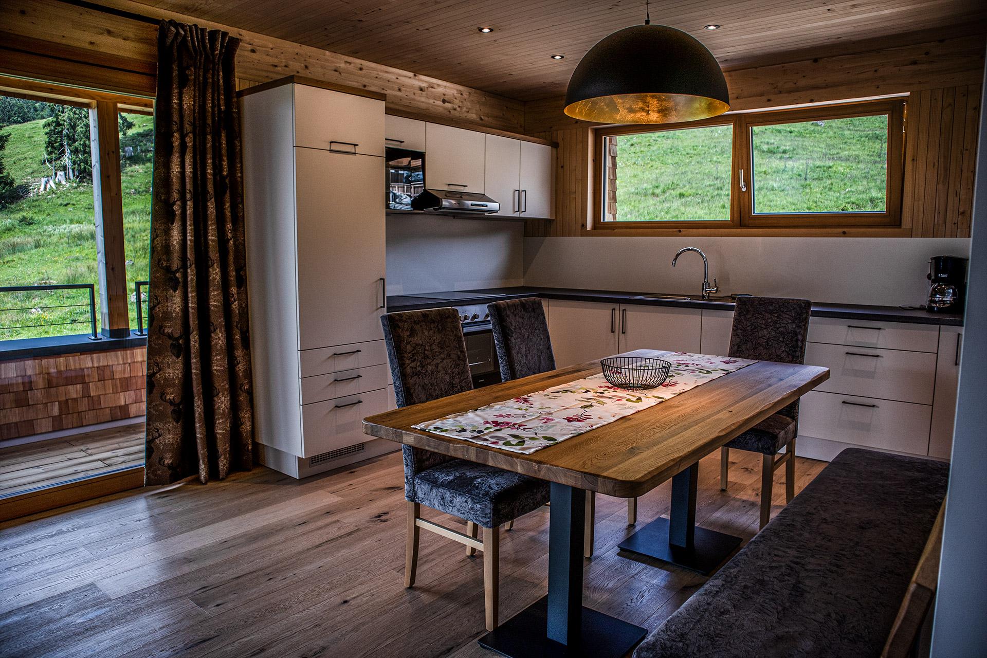 Küche Wohnung Weitblick Balderschwang